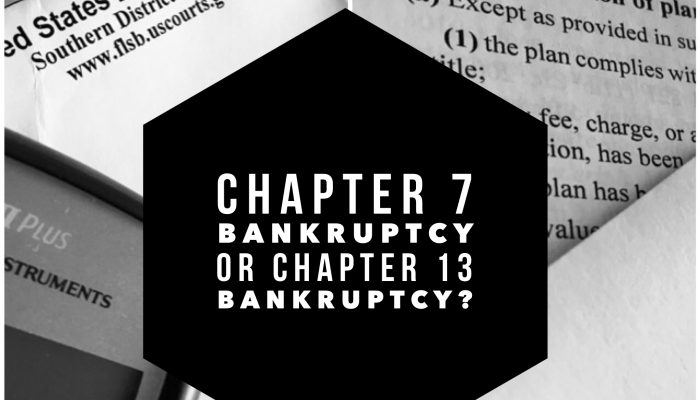 chapter 7 or chapter 13