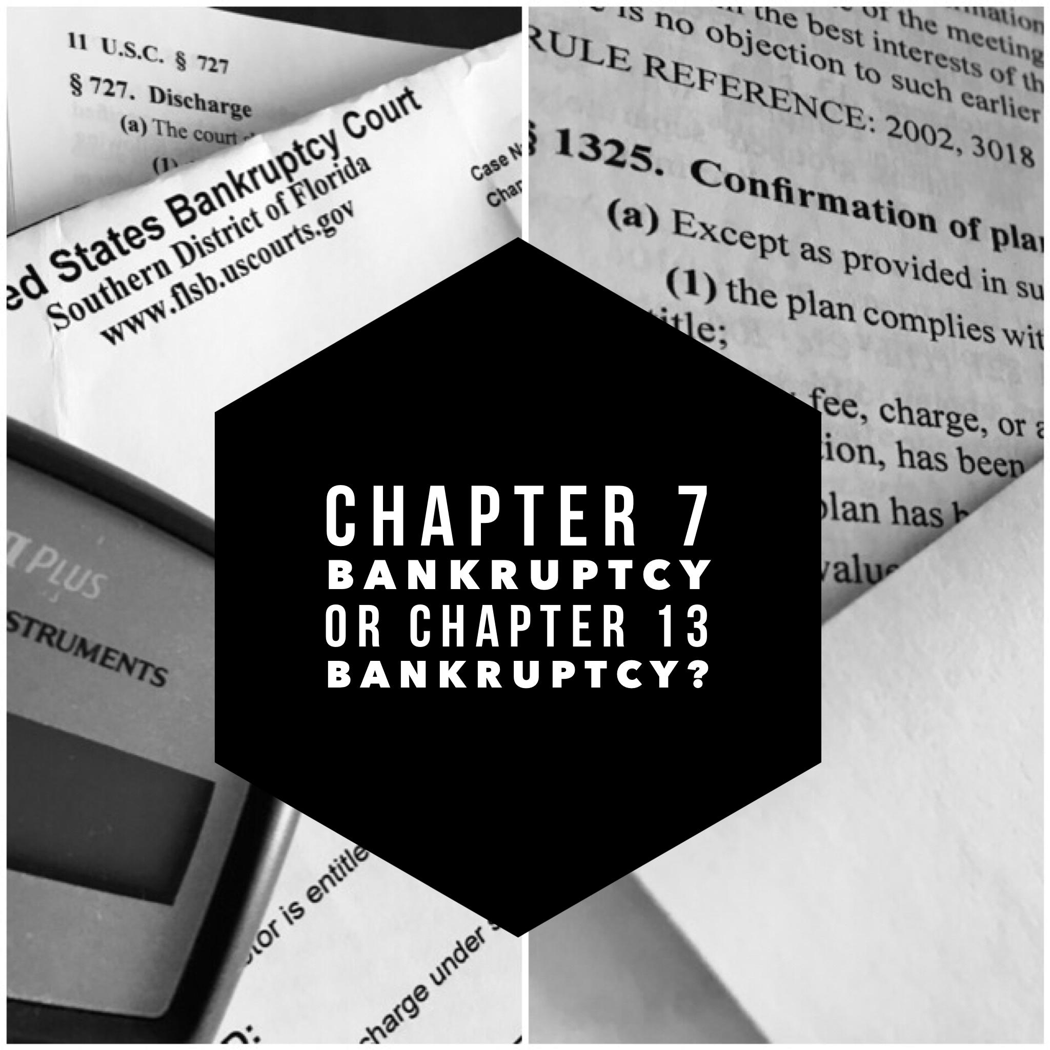 should i file chapter 13 bankruptcy
